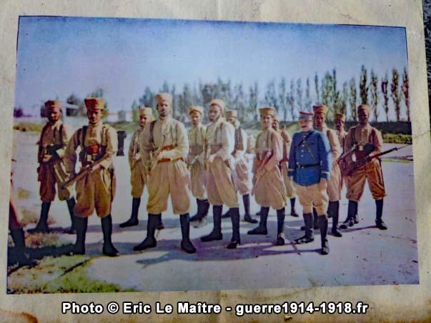 Les tirailleurs marocains, illustration du pupitre n°4 sur les traces de Charles Péguy à Villeroy