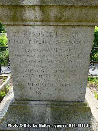 Liste des héros de la Marne, tués aux combats d'Iverny, le 5 septembre 1914
