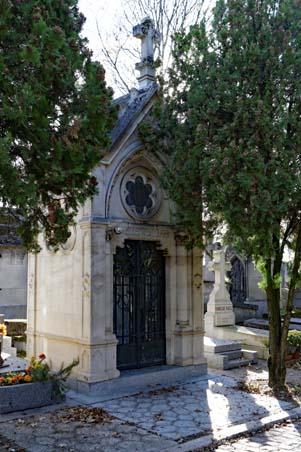 Cimetière du Père-Lachaise - Paris - Chapelle funéraire de la famille Whitcomb - Photo : Pierre-Yves Beaudouin