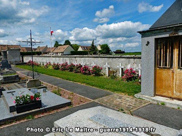 Cimetière communal de Saint-Soupplets - Carré militaire français 1914-1918