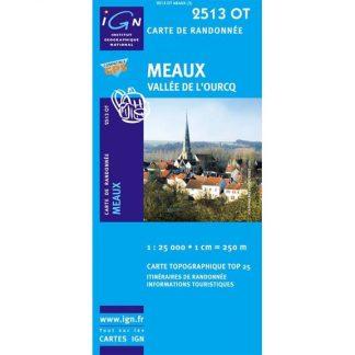 Meaux et vallée de l'Ourcq - Carte de randonnée IGN