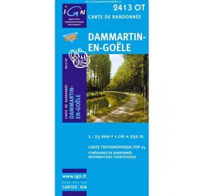 Carte de randonnée Dammartin-en-Goële - IGN 2010