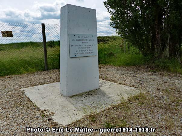 Monthyon - La stèle de la butte de la Saulorette