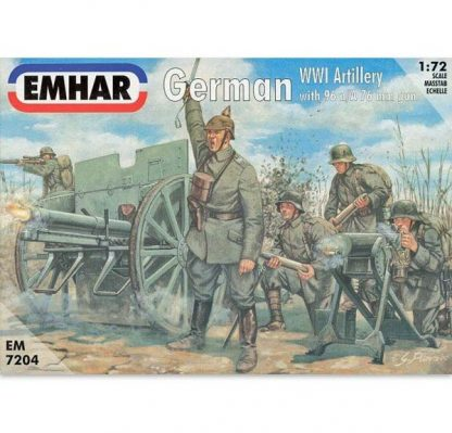 Figurines Emhar - Artillerie allemande 1914-1918 - Echelle : 1/72e - 24 figurines