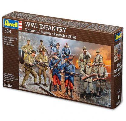 Figurines WWI - Infanterie allemande, anglaise et française en 1914 - Marque : Revell