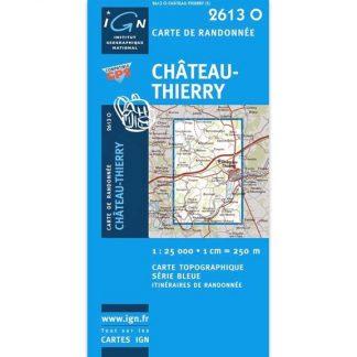 Carte de randonnée Château-Thierry - IGN