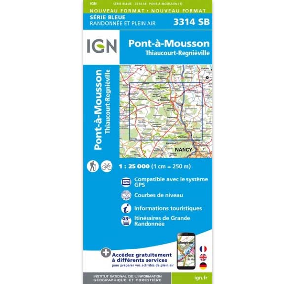 Carte IGN Pont-à-Mousson