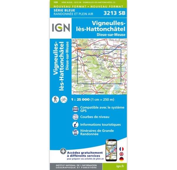 Carte IGN Vigneulles-lès-Hattonchâtel - Dieue-sur-Meuse