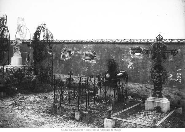 Cimetière de Chambry après la bataille de 1914