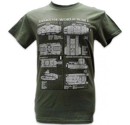 T-shirt vert spécial tanks de la Première Guerre mondiale