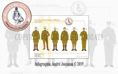 Les Chasseurs d'Afrique, Officiers, 1916-1918