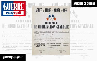 Ordre de mobilisation générale en France, 2 août 1914