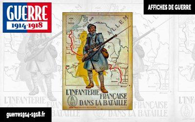 «L'infanterie française dans la bataille» – Affiche française de la Première Guerre mondiale