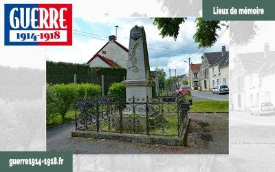 Le monument aux morts 1914-1918 à Iverny (77 – Seine-et-Marne)