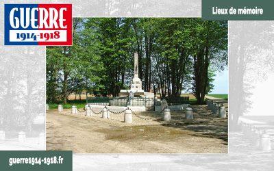 Le monument de la Croix Brisée à Nouvron-Vingré (02-Aisne)