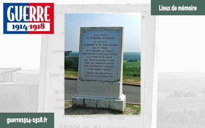 Le monument à la gloire du 4ème régiment de Zouaves à Oulches-la-Vallée-Foulon (02-Aisne)