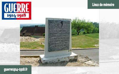 Le monument à la mémoire des combattants du 41ème BCP à Oulches-la-Vallée-Foulon (02-Aisne)