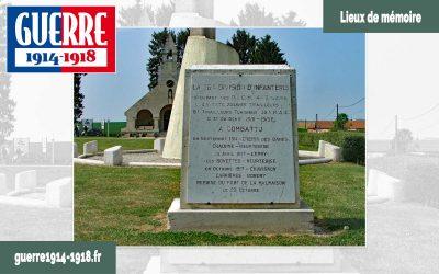 Le monument de la 38ème division à Cerny-en-Laonnois (02–Aisne)