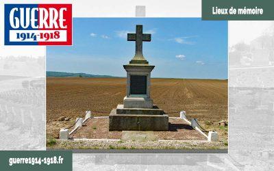 Le monument à la mémoire de Gaston de Gironde et du 16ème Dragons (Vivières – 02 – Aisne)