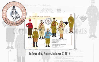 Les Spahis Algériens et Tunisiens, 1914-1918