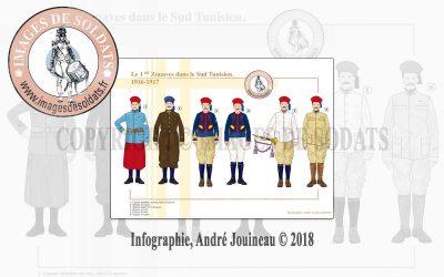 Le 1er Zouaves dans le Sud Tunisien, 1916-1917