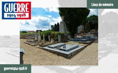 Tombes de soldats 14-18 au cimetière communal d'Iverny (77 – Seine-et-Marne)