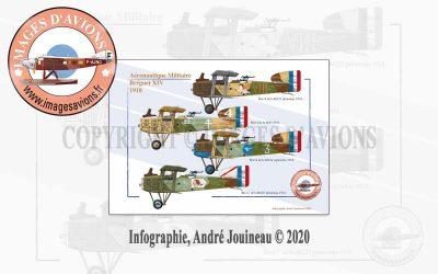 Profil d'avion 14-18 : Bréguet XIV, Aéronautique Militaire, 1918