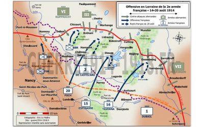 Carte des batailles 14-18, n°1 : Offensive en Lorraine de la 2e armée française – 14-20 août 1914