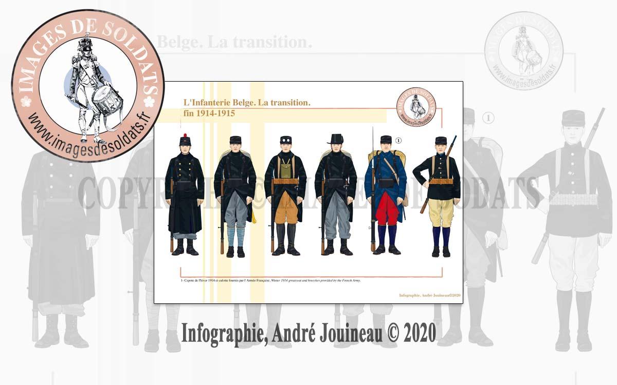 L'Infanterie Belge. La transition. Fin 1914-1915 - Infographie : André Jouineau - Images de Soldats