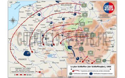 Carte des batailles 14-18, n°2 : Le plan Schlieffen, 1905