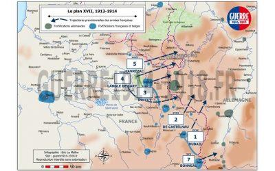 Carte des batailles 14-18, n°3 : Le plan XVII, 1913-1914