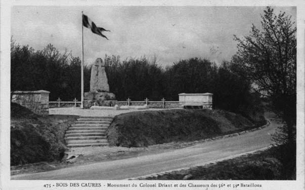 Le monument Driant quelques temps après son édification