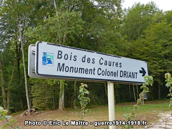 Panneau Bois des Caures - Monument Colonel Driant