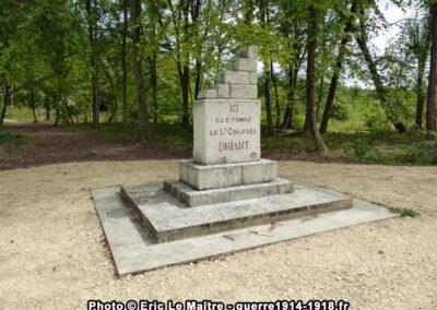 Stèle colonel Driant au bois des Caures