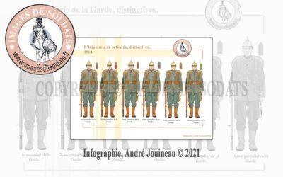 L'Infanterie de la Garde, distinctives, 1914